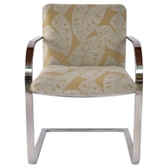 Mid-Century Modern Chrome Desk Chair with Tropical Print by Brueton