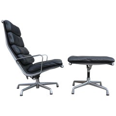 Superb Eames Soft Pad Lounge and Ottoman for Herman Miller