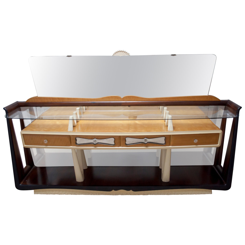 After Osvaldo Borsani Midcentury Italian Sideboard Console Table, 1950s