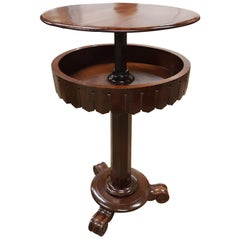 Mid Victorian Rise and Fall Table in Mahogany
