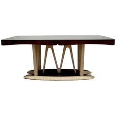 After Osvaldo Borsani Midcentury Italian Walnut Dining Table, 1950
