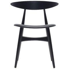 CH33P Dining Chair in Black by Hans J. Wegner for Carl Hansen & Son