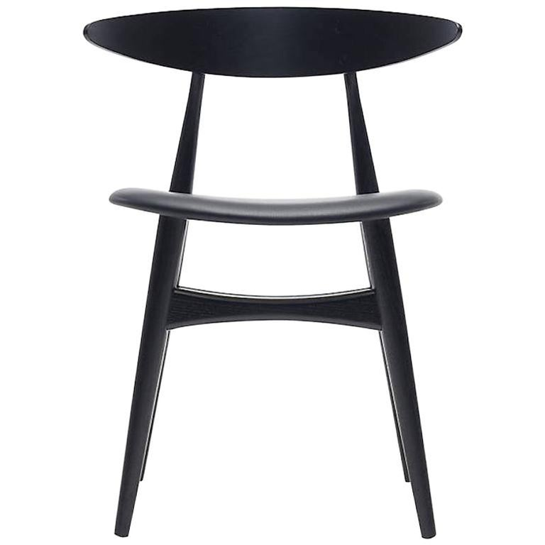CH33P Dining Chair in Black by Hans J. Wegner for Carl Hansen & Son For Sale