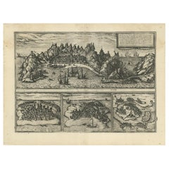 Antique Map of Aden, Mombasa, Kilwa and Sofala by Braun & Hogenberg, circa 1575