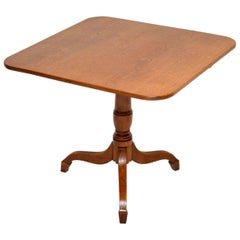 Antique George III Golden Oak Tilt-Top Table