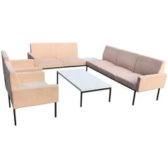 Modular Seating Group from Thonet, 1960s, Seating Elements, Lobby Sofa Beige