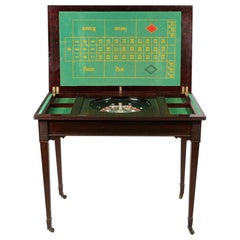 Antique Victorian Mahogany Games Roulette Table, 19th Century