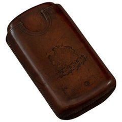 Victorian Leather Cigar Case