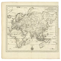 Antique Map of the Eastern Part of the World by Tirion, 1755