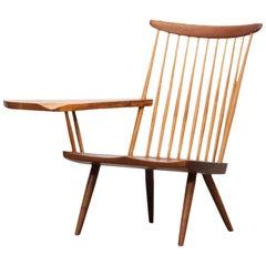 Brown Walnut Armchair Designed by George Nakashima