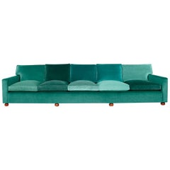 Josef Frank, Five Seated Sofa, Velvet, Seven Shades Velvet