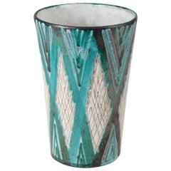 Robert Picault Large Ceramic Vase, 1950s