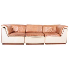 Modular Sofa in Patinated Leather