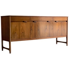 Midcentury Rosewood Sideboard Credenza by Nathan Furniture Caspian Range 1960s