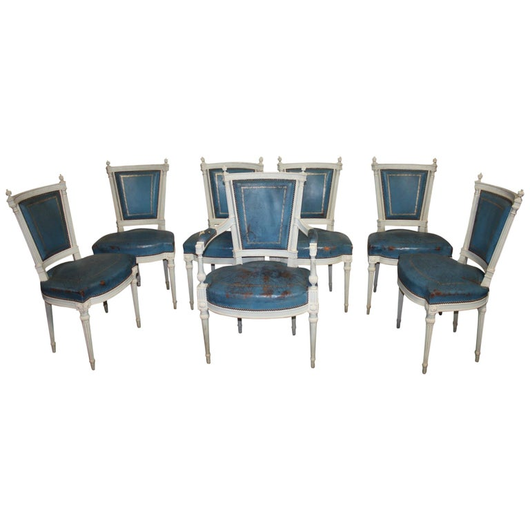 Set of French 19th Century Dining Room Chairs For Sale