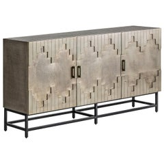 Brutalist Design Metal Sideboard