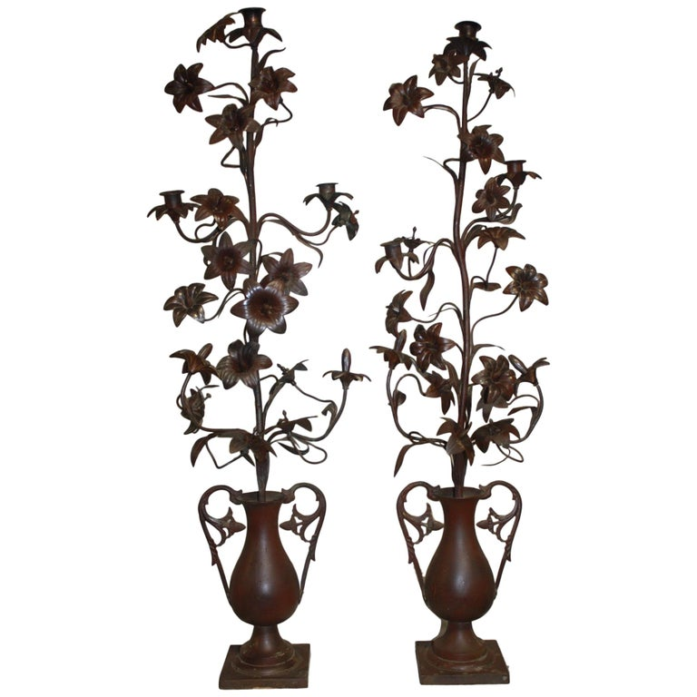 Pair of 19th Century Candelabras For Sale