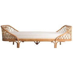 French 1960s Style Rattan Daybed