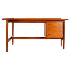 Rare Teak Writing Desk BO85 by Arne Vodder for Bovirke, 1952-1954, Denmark
