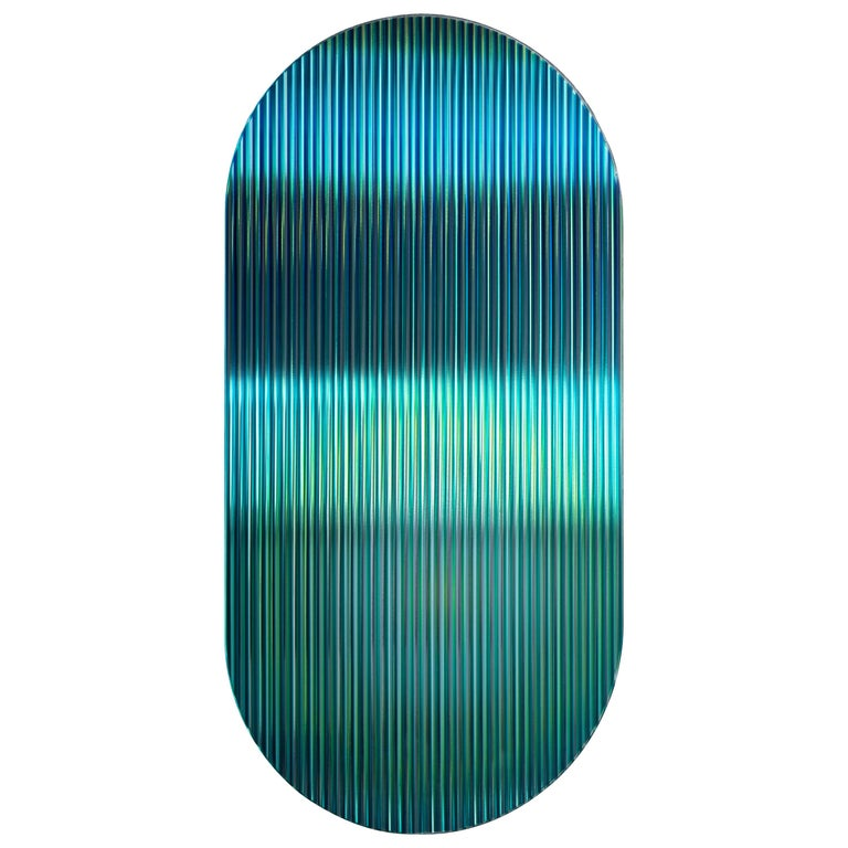 Color Shift Panel Trichroic Green with Glass and Color Sublimated Mirror For Sale