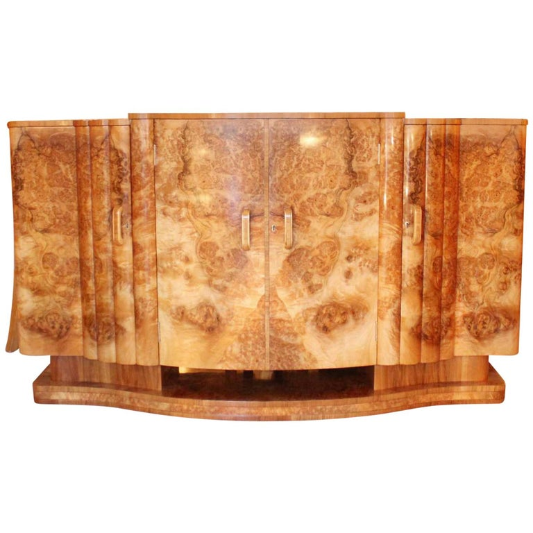 Harry and Lou Epstein Art Deco Sideboard For Sale
