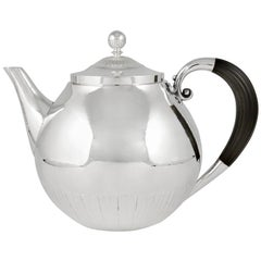 """Extra Large Georg Jensen """"Cosmos"""" Teapot 45C by Johan Rohde"""