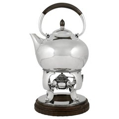 Rare Georg Jensen Hot Water Kettle on Stand 80A