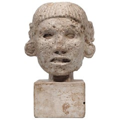 Pre-Columbian Mayan Head, 20th Century