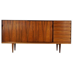Rare Highboard by Henry Rosengren Hansen for Brande Møbelindustrie, 1960s
