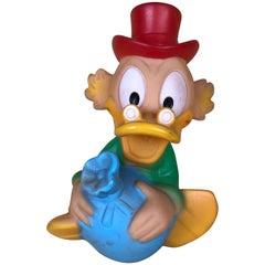 1960s Vintage Uncle Scrooge Squeak Toy Made in Spain by Jugasa for Disney