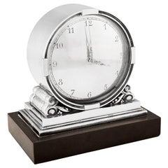 Vintage Georg Jensen Clock 596 by Johan Rohde