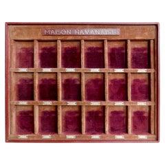 """Vintage Französisch Herren Shop Manschettenknopf Präsentation Box """"Maison Havanaise"""""""