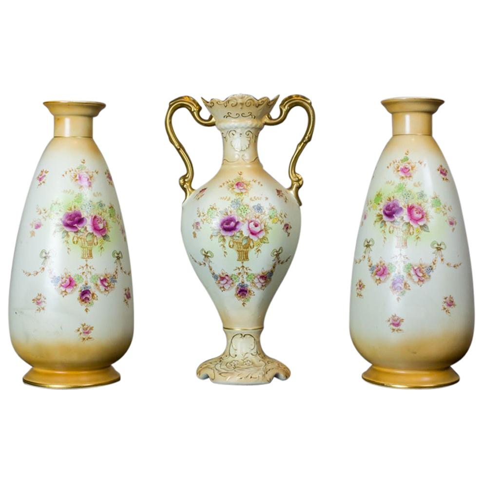 Set of Devon Ware Vases from the 1920s