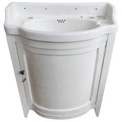 Waschbecken Waschtisch mit Alfred Johnson weißes Eisenstein Waschbecken
