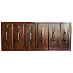 Apothecary Cabinet, Early 20th Century, Vertical Drawers with 113 Glass Bottles