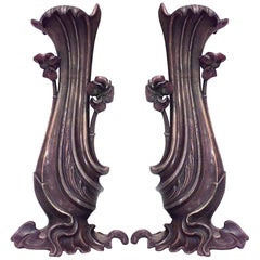 Pair of French Art Nouveau Vases