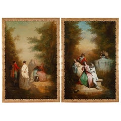 """Courtly Love"" and ""Inconstant Love"" in the Style of Watteau"