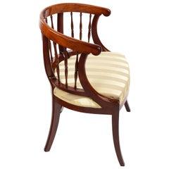 French Armchair, Walnut, 1850, Shellac Polish