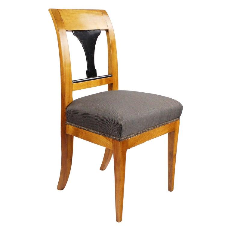 19th Century Biedermeier Period Chair, Cherrywood, circa 1820 For Sale