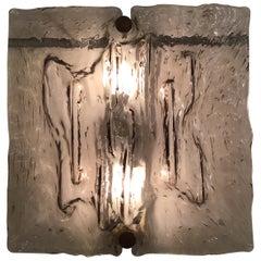 """Venini """"Mazzega"""" Sconces Murano Glass Brass Italian, 1958"""