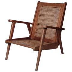 French 1950s Oak Armchair