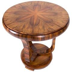 French Art Deco Walnut Coffee Table