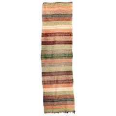 Handmade Mixed Color Cotton Wool Runner Rug