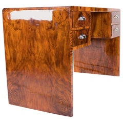 French Art-Deco Walnut Root Desk
