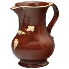 Astbury-Ware Earthenware Red Glazed Pitcher, 18th Century