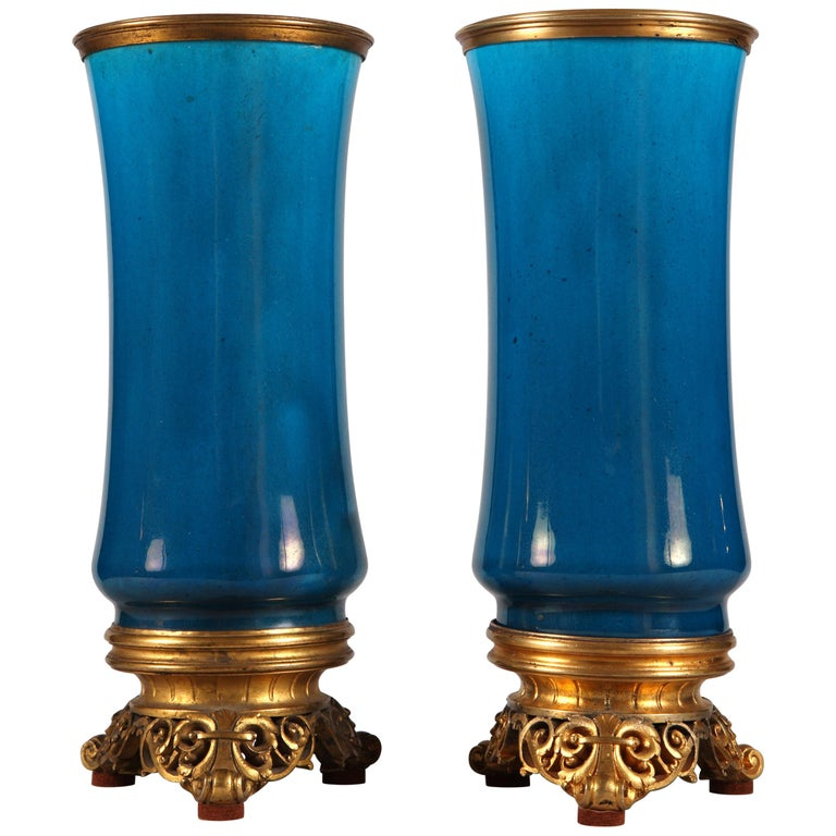 Fine Pair of Vases by C. Rudhardt For Sale