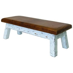 "Leather Gymnastic Bench Provenance ""1950"""