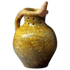 Donyatt Pottery Somerset Slipware Earthenware Puzzle Jug, 1862