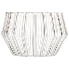 EU Clients Czech Clear Contemporary Handmade Mixed Small Jewelry Bowl, in Stock
