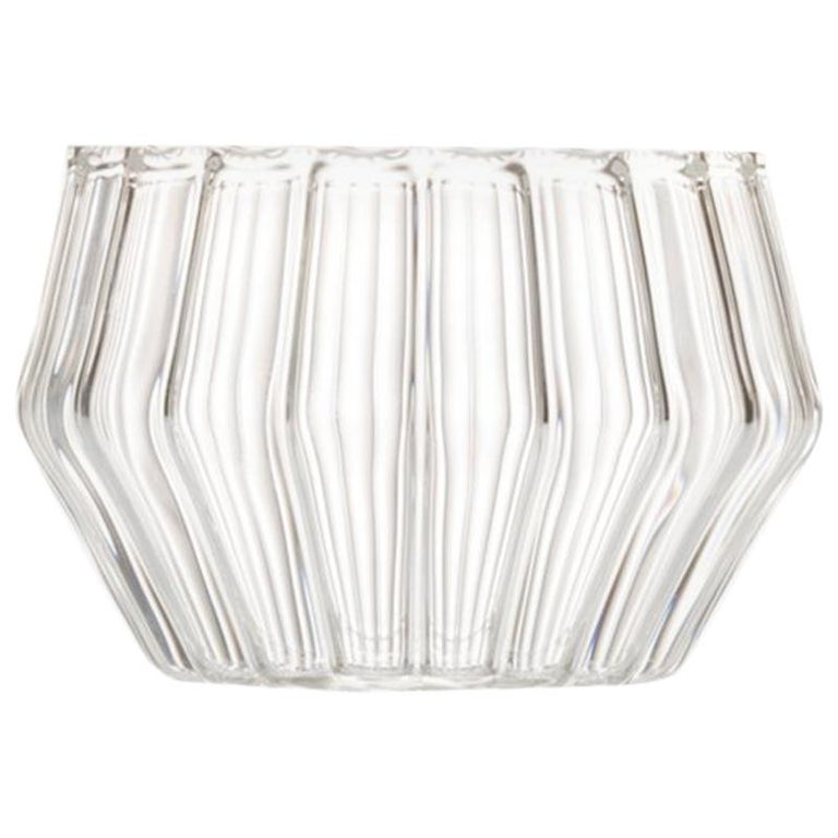EU Clients Czech Clear Contemporary Handmade Mixed Small Jewelry Bowl, in Stock For Sale